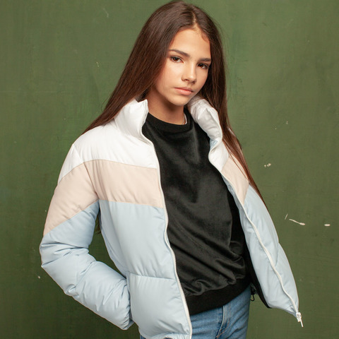 Дитяча демісезонна блакитна куртка з водовідштовхувальної плащової тканини