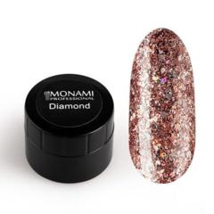 Гель-лак Diamond Stardust (платиновый) 5 гр Monami