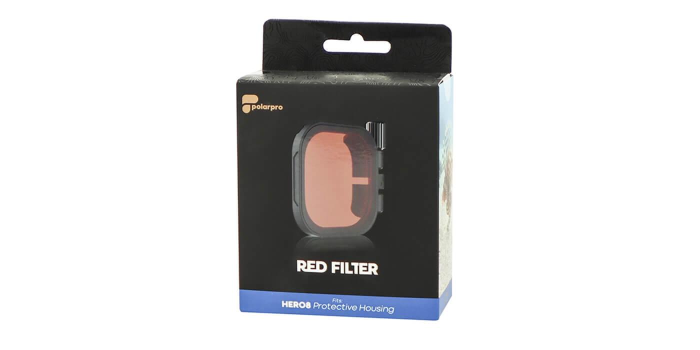 Красный фильтр PolarPro RED на бокс HERO8 Black