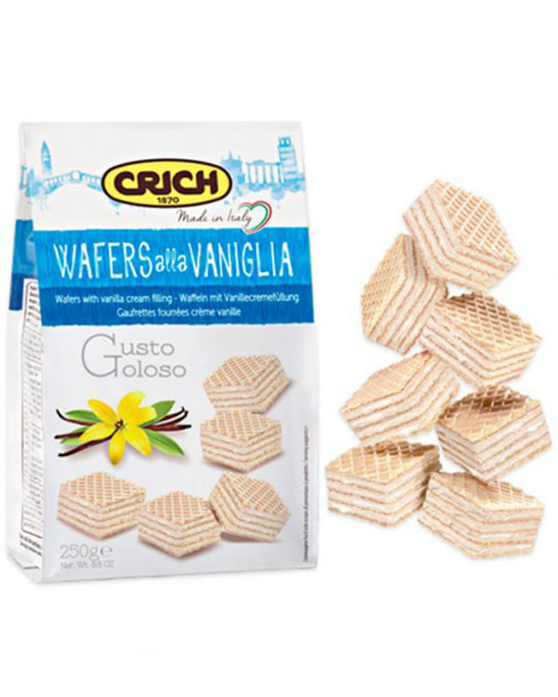 Вафли Crich с ванильно-кремовой начинкой, 250 гр.