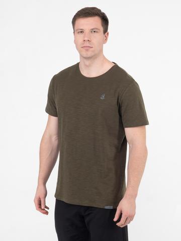Мужская футболка «Великоросс» цвета хаки круглый ворот