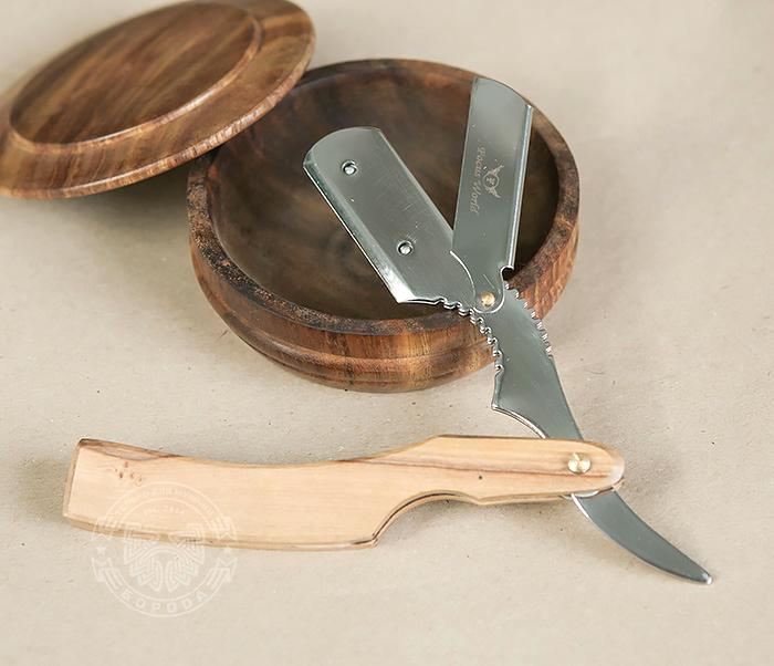 RAZ232 Опасная бритва (шаветка) оригинальной формы для сменных лезвий фото 07