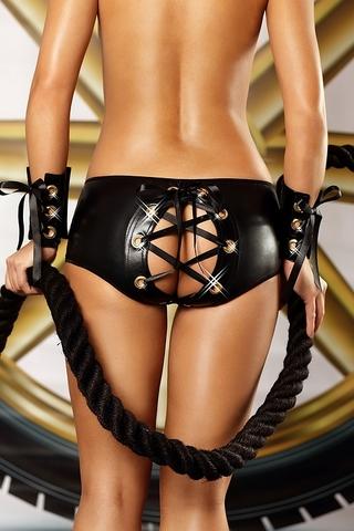Трусики со шнуровкой на попе Bizarre Shorts - Lolitta
