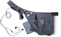 Ультратонкая сумка-мессенджер мужская через плечо