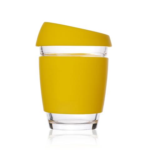 Кружка Coffee Cup из боросиликатного стекла 340 мл. желтый
