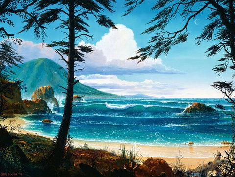 Картина раскраска по номерам 50x65 Волны у берега