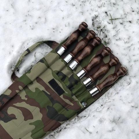 """Набор шампуров в чехле №3 """"Камуфляж"""""""