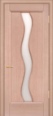 Дверь Вираж (беленый дуб, остекленная шпонированная), фабрика Покрова