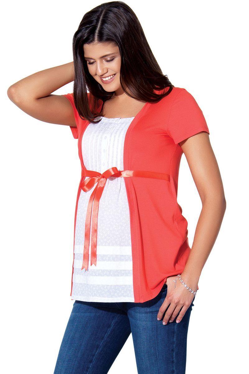 Блузка для беременных 01390 красный