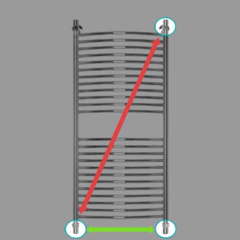 Полотенцесушитель водяной Energy ELITE 1200x500