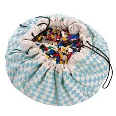 Коврик-мешок для игрушек (2 в 1) Play&Go Print СИНИЙ БРИЛЛИАНТ 79960