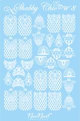 Трафарет для дизайна Shabby Chic 08 белый
