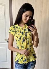 Кім. Яскрава літня блуза. Жовті ключики