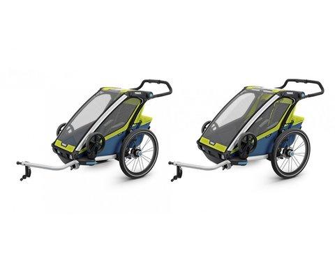 Картинка коляска Thule Chariot Sport2 салатовая  - 2