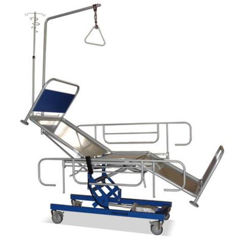 Кровать функциональная КФ3-«Техстрой 2» (реанимационная с регулировкой по высоте электромеханическим приводом) - фото