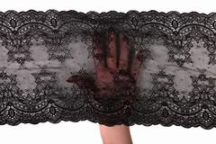 Кружево эластичное черное 19 см