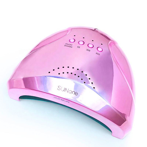 UV/LED лампы Лампа UV/LED SunOne 48W, розовый металлик 1.jpg