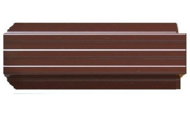 Штакетник металлический Евротрапеция (RAL8017(Шоколад))