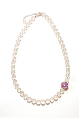Ожерелье Satinato цвет Pink