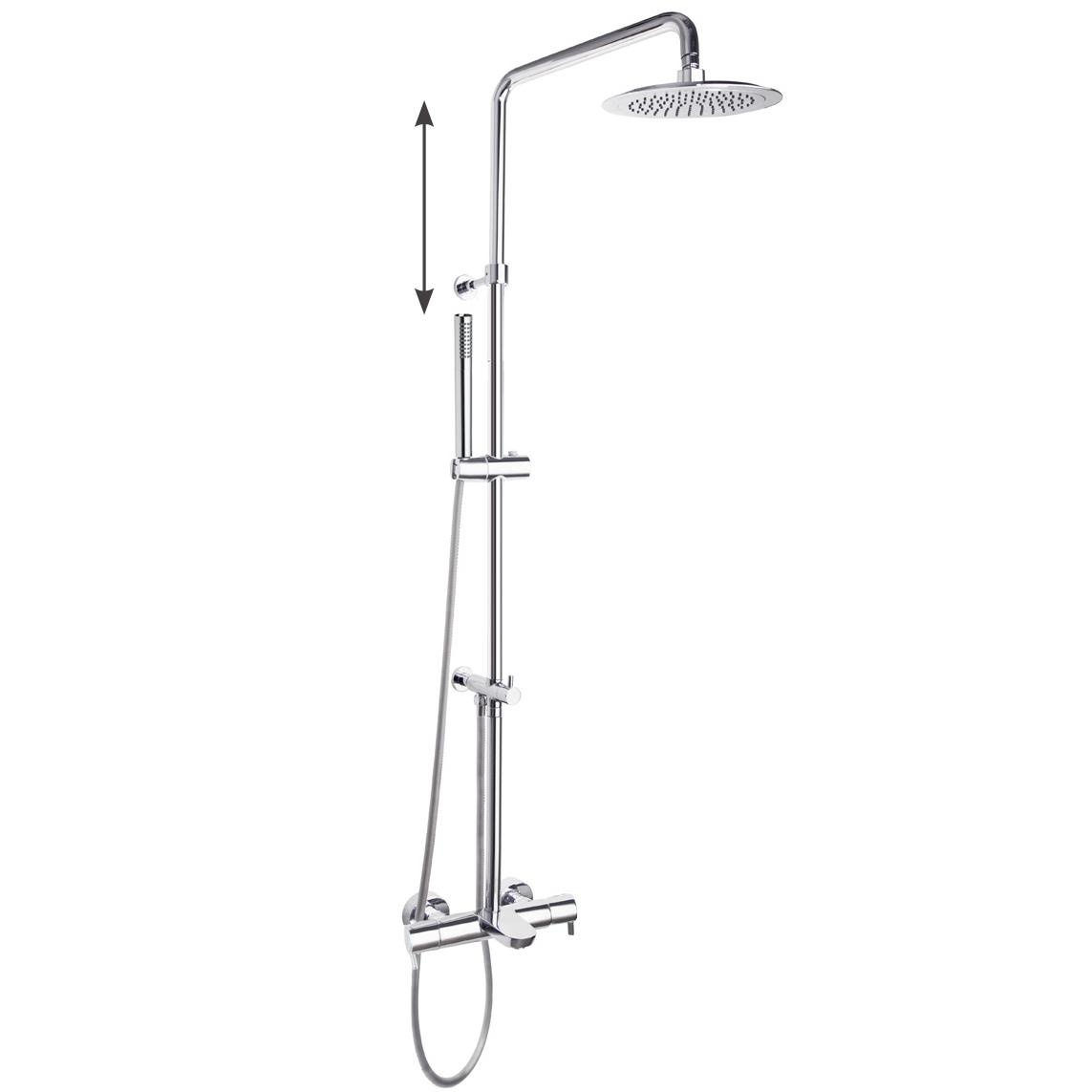 Душевая система с термостатом и тропическим душем для ванны DRAKO 335602RM250