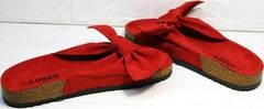 Модные шлепанцы босоножки женские без каблука Comer SAR-15 Red.