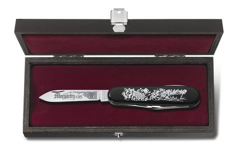 Нож Victorinox Morgarten LE, коллекционный, 91 мм, 9 функций, черный (подар. упаковка)123