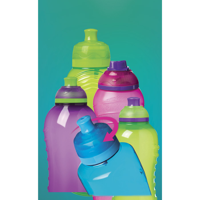 """Бутылка для воды Sistema """"Hydrate"""" 600 мл, цвет Розовый"""