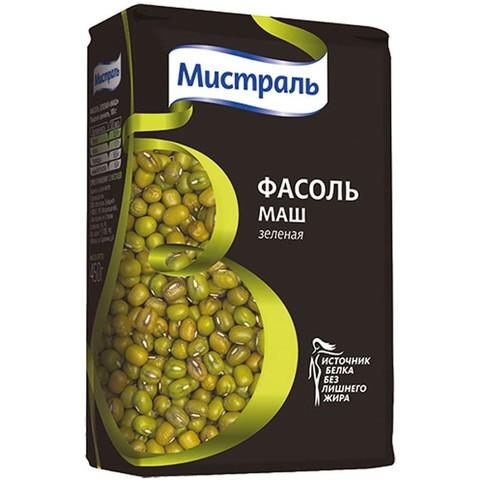 Крупа Фасоль МИСТРАЛЬ зеленая Маш, 450г