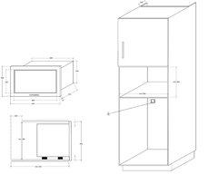 Микроволновая печь Kuppersberg HMW 655 X - схема