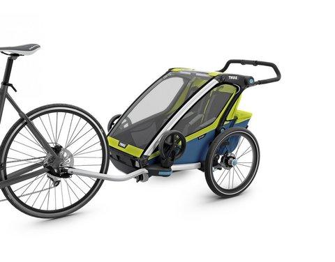 Картинка коляска Thule Chariot Sport2 салатовая  - 4