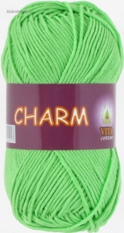 Пряжа Charm (Vita cotton) 4502 Яркая молодая зелень - купить в интернет-магазине недорого klubokshop.ru