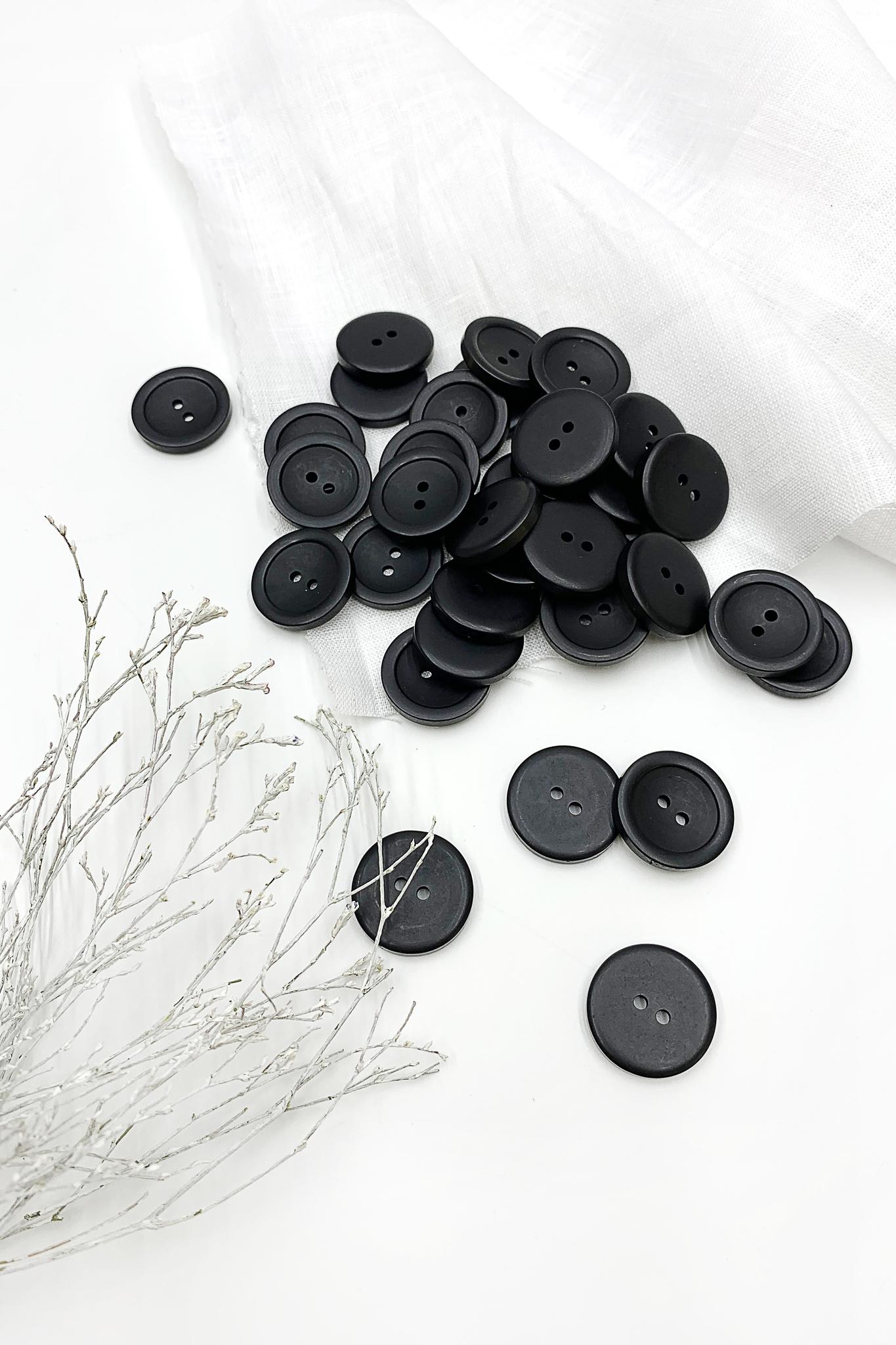 Пуговица,черный,23 мм