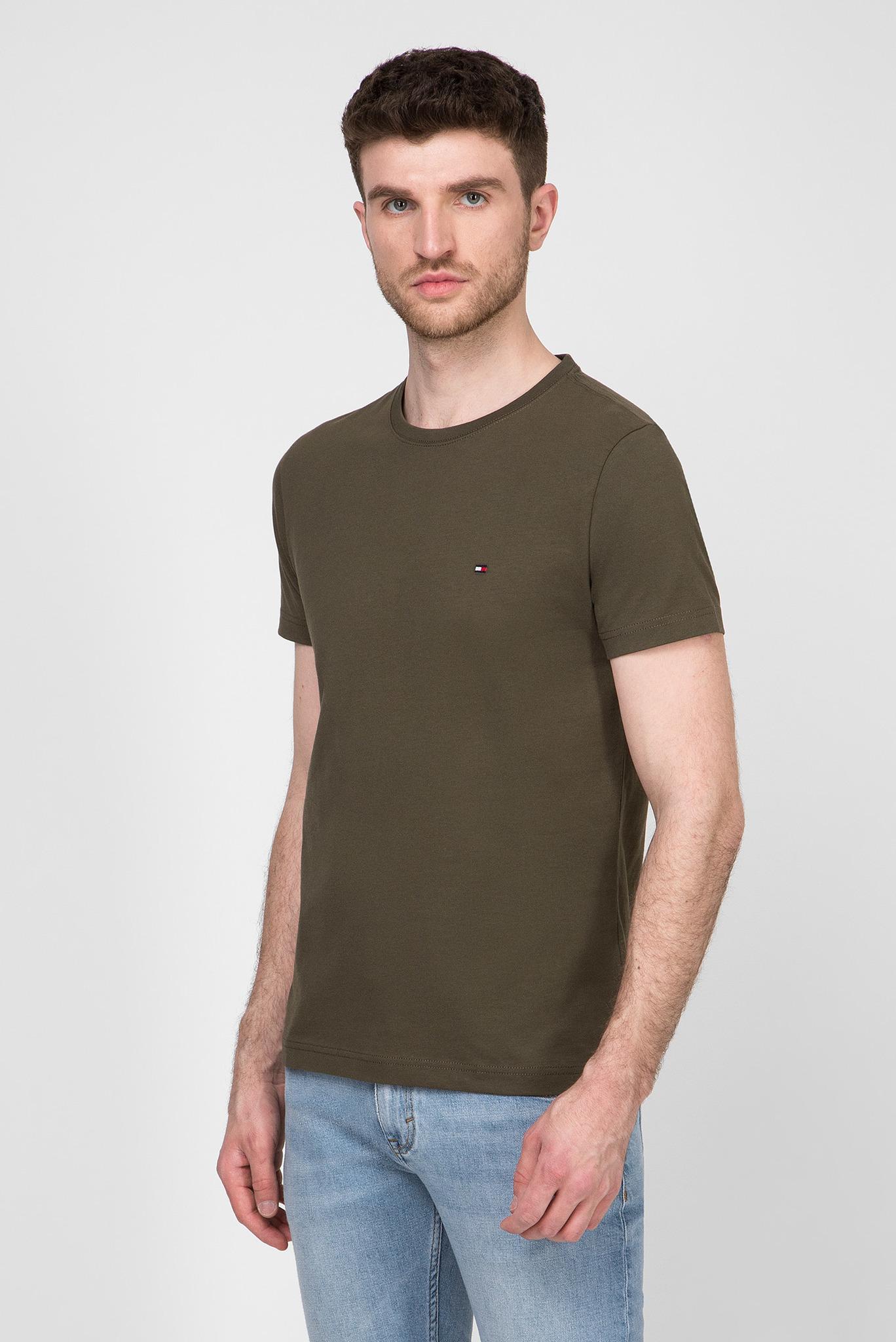 Мужская зеленая футболка ESSENTIAL COTTON Tommy Hilfiger