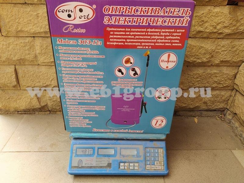 7 Опрыскиватель аккумуляторный Comfort ЭОЭ-12л с регулятором мощности