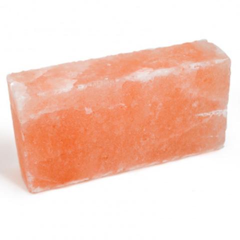 Кирпич из гималайской розовой соли 200x100x50 мм, шлифованный