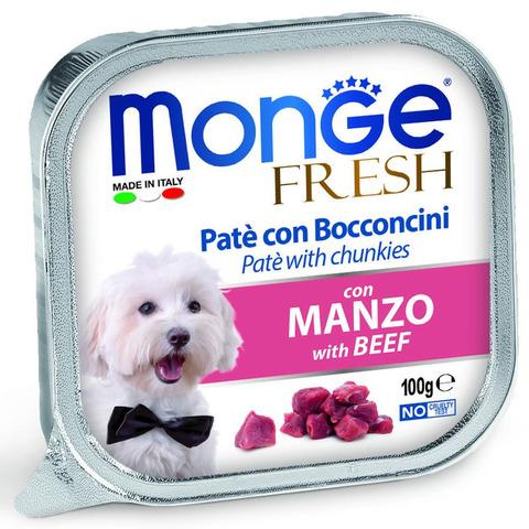 Monge Dog Fresh Консервы для собак из говядины (ламистер)