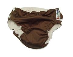 Непромокаемые трусики на кнопках Babyidea MobileHour, S/M 6-12 кг, Коричневый (внешний слой: трёхслойная полиуретановая мембрана, внутренний слой: полиэстер 100% (флис))