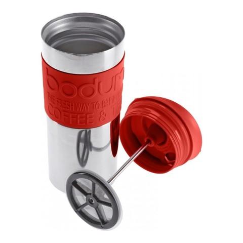 Кружка с прессом Bodum Travel (0,35 литра), красная