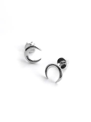 Серебряные серьги-пусеты