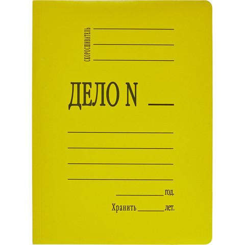 Скоросшиватель картонный Attache Дело № А4 до 200 листов желтый (плотность 360 г/кв.м)