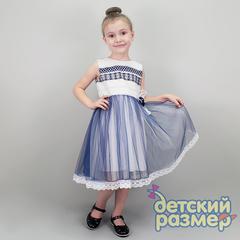 Платье 92-104 (съемная брошь)