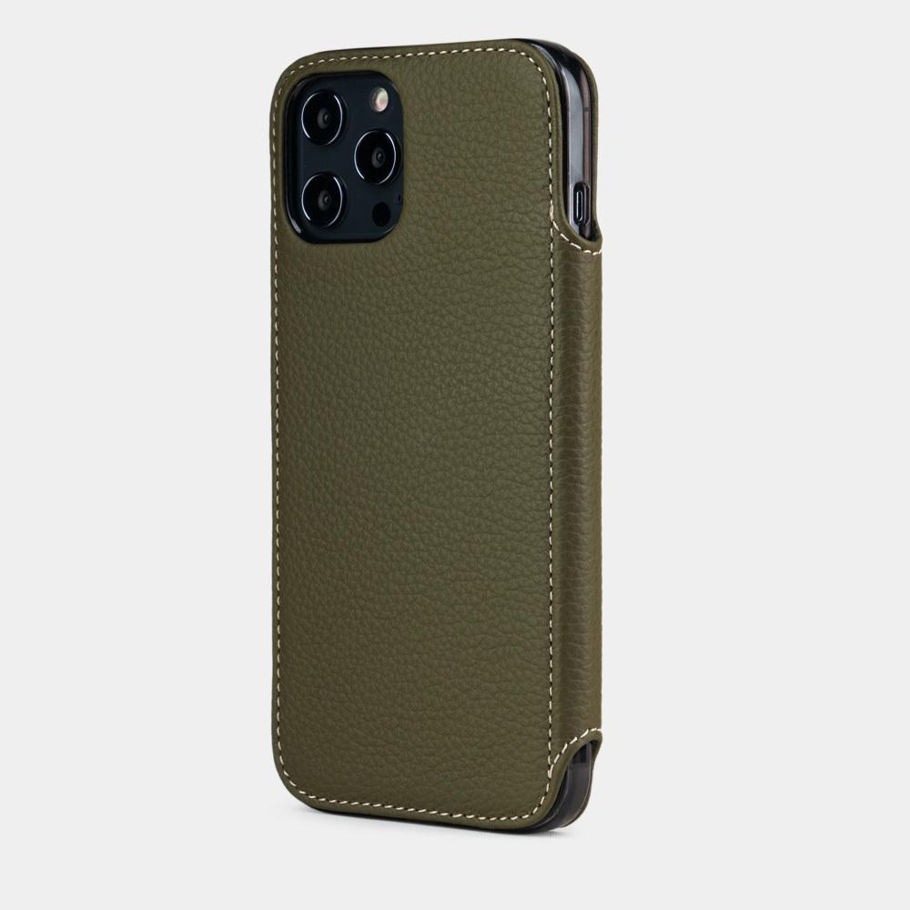 Чехол Benoit для iPhone 12 Pro Max из натуральной кожи теленка, зеленого цвета