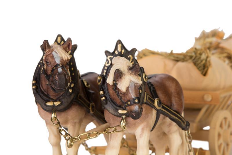 Упряжка лошадей с сеном
