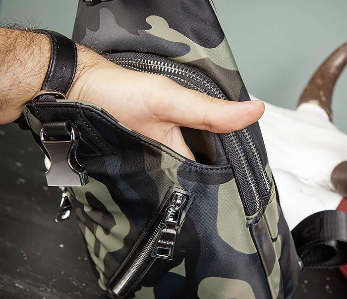 BAG488-3 Мужская сумка с одной лямкой через плечо фото 11