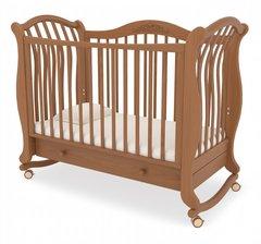 Кровать детская Габриэлла люкс на колесиках с ящиком вишня