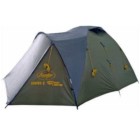 Палатка Canadian Camper KARIBU 3, цвет forest, вид сбоку.