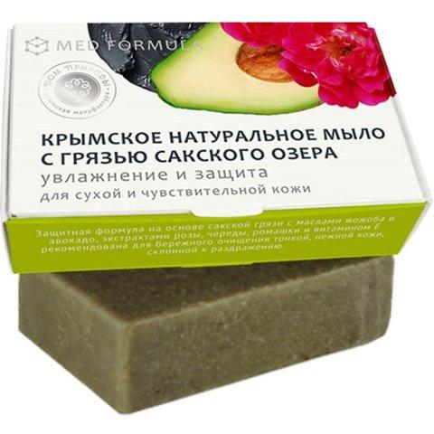 Крымское мыло для ухода за сухой и чувствительной кожей MED formula «Увлажнение и Защита »™Дом Природы