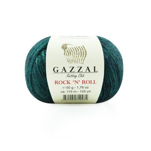Пряжа Gazzal Rock n Roll 12834 малахит
