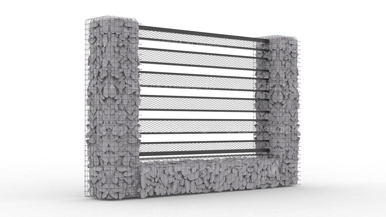 Забор из сетки рабицы ZBR0192
