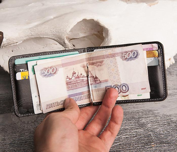WB108-4 Яркий кошелек ручной работы с зажимом для денег. «Boroda Design» фото 06